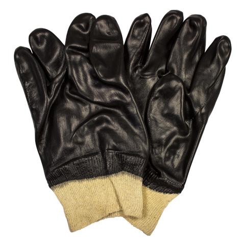 Black PVC Coated Gloves