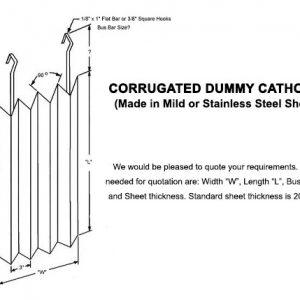 Corrugated Dummy Cathodes or Corrugated Dummy Panels